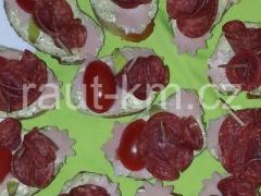 Brokolicovo-šunkové jednohubky s poličanem -03